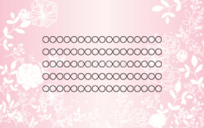 結婚式メッセージカードデザイン花線画イラスト無料テンプレート80946