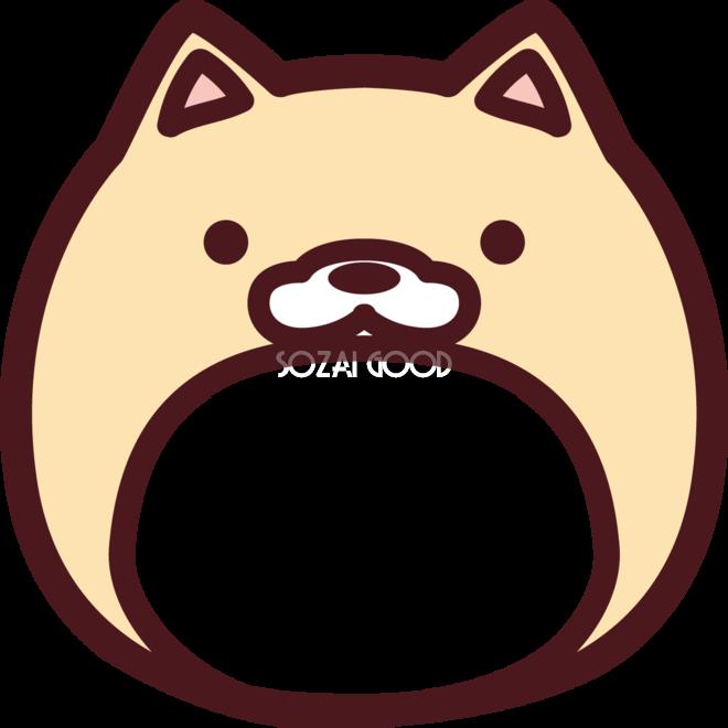 柴犬の顔型抜き かわいい無料イラスト81784 素材good