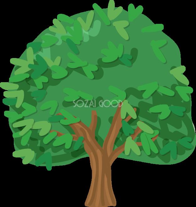 木 シンプルなみかんの木 無料イラスト82048 素材good