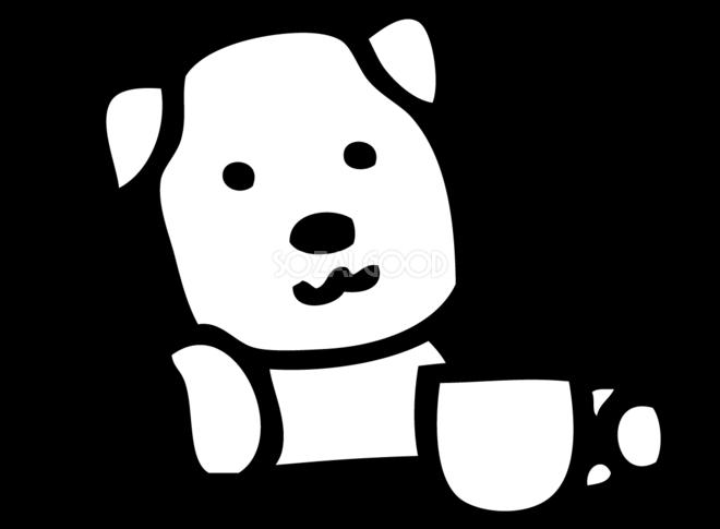 カフェのかわいい白黒の犬イラスト無料82826 素材good