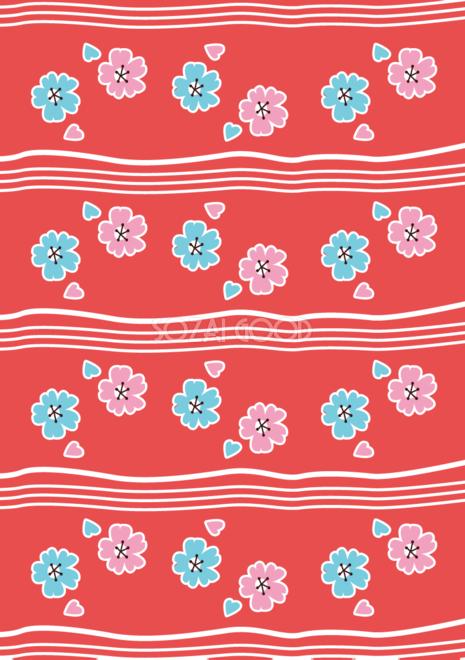 縦の和風レトロ桜の背景フリー無料イラスト画像83227 素材good
