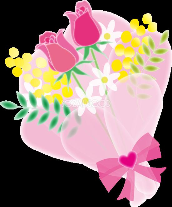 かわいい水彩画風のチューリップの花束フリー無料イラスト83388 素材good