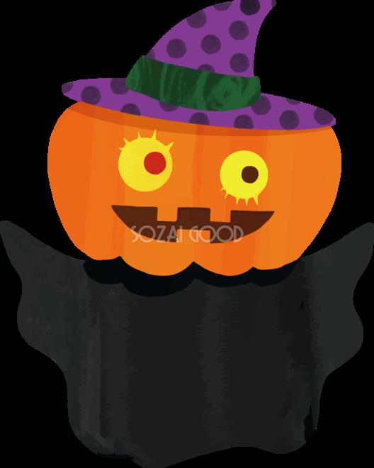 ハロウィン かぼちゃのおばけイラストかわいい無料フリー84239