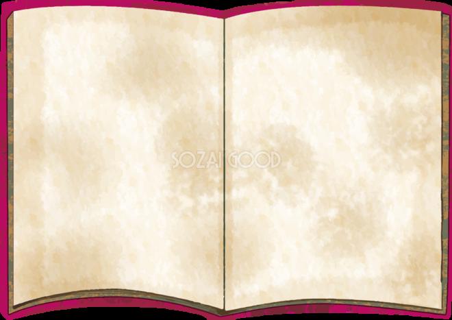 古びたアンティークの本フレーム枠イラスト無料フリー84930 素材good