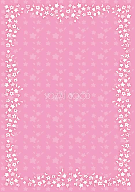 桜かわいいクラシカルガーリーピンク背景柄イラスト無料フリー85434
